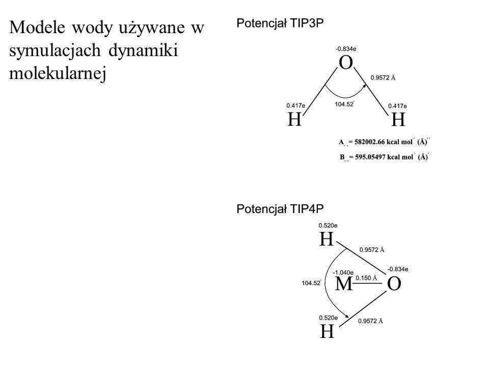 Modele wody używane w symulacjach dynamiki molekularnej