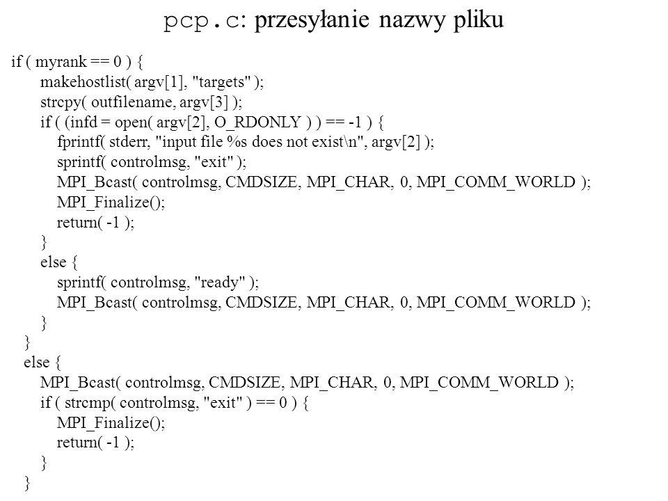 if ( myrank == 0 ) { makehostlist( argv[1],