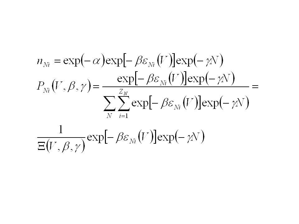 Zespół mikrokanoniczny określone E, V, N Charakterystyczna funkcja termodynamiczna: entropia Zespół kanoniczny określone T, V, N Charakterystyczna funkcja termodynamiczna: energia swobodna