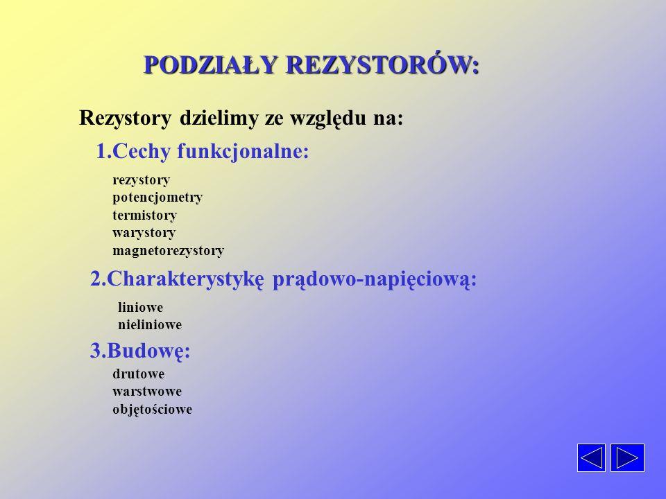 Podział rezystorów Symbole Oznaczenia Potencjometry Parametry