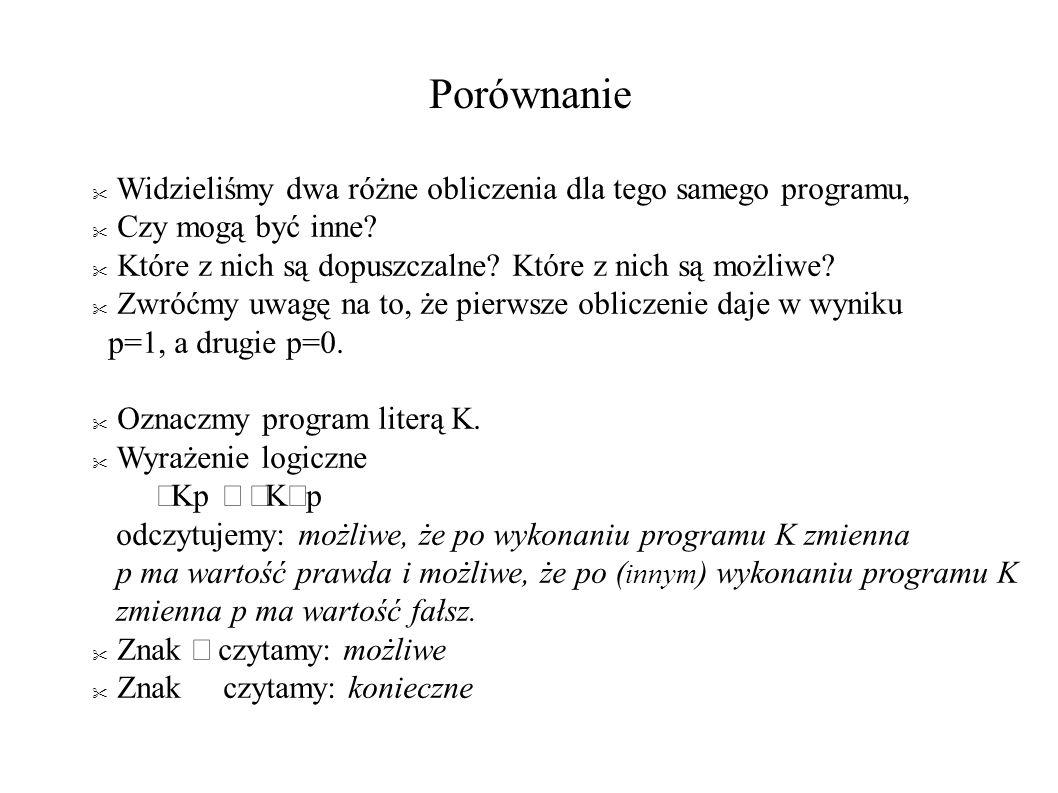 Porównanie Widzieliśmy dwa różne obliczenia dla tego samego programu, Czy mogą być inne.