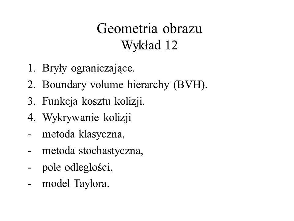 Przykład. Binarne drzewo BVH. [T.Mezger, Bounded Volume Hierarchies, 2005]