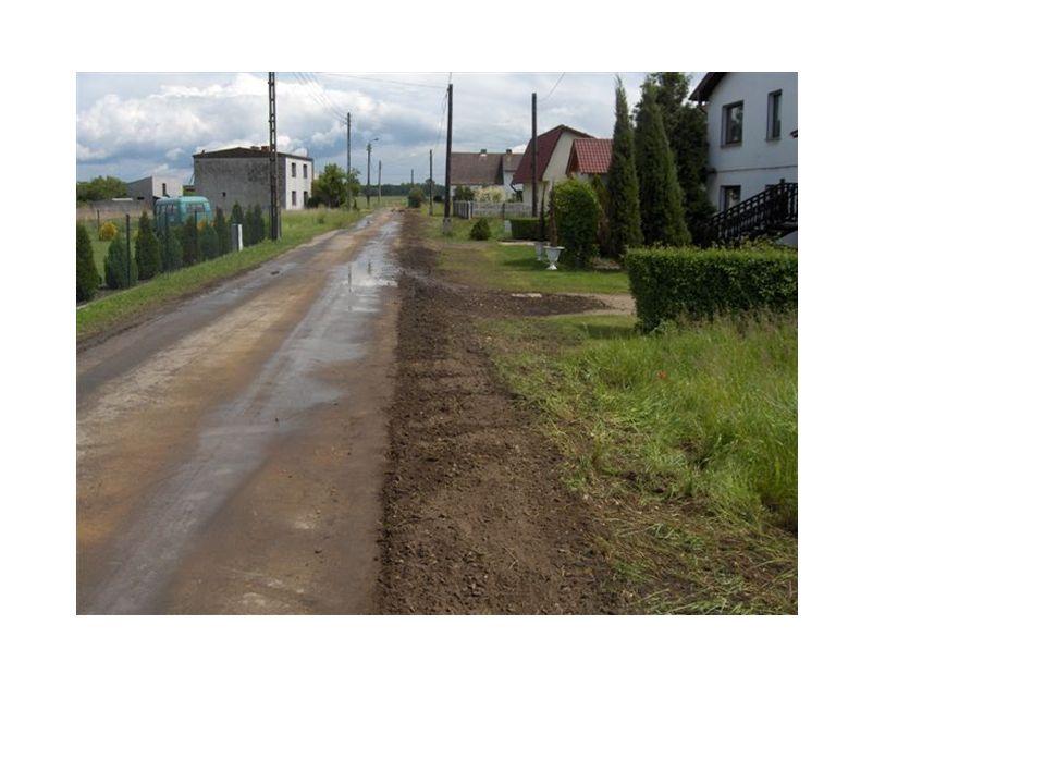 Ta sama ulica po zakończeniu robót ziemnych.