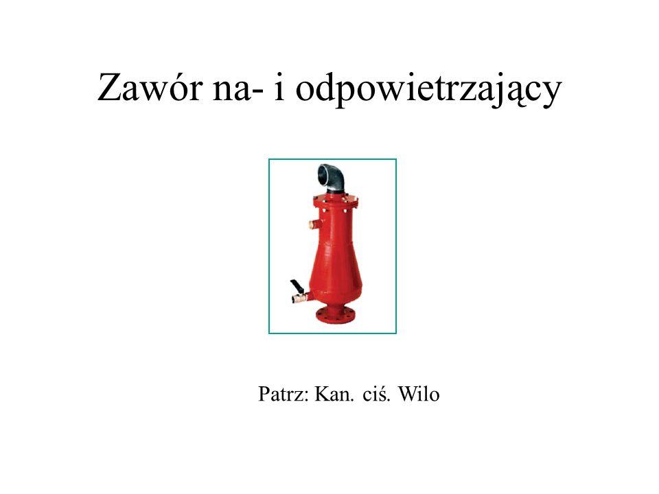 Zawór na- i odpowietrzający Patrz: Kan. ciś. Wilo