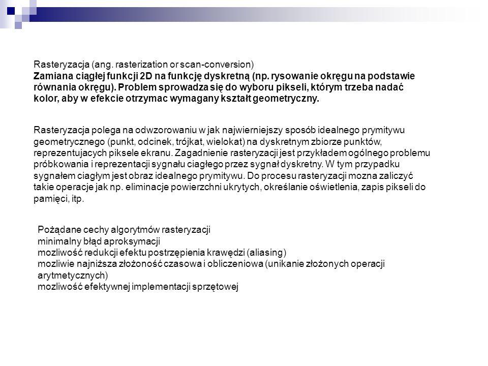 Dostępne formaty plików rastrowych (oprogramowanie ArcGIS) Format OpisRozszerzenie(a) Arc Digitized Raster Graphics (ADRG) Rozprowadzane na CD–ROM przez US NIMA.