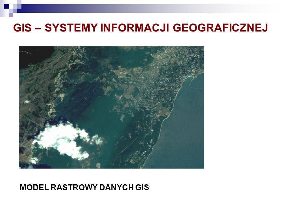 GIS – SYSTEMY INFORMACJI GEOGRAFICZNEJ MODEL RASTROWY DANYCH GIS