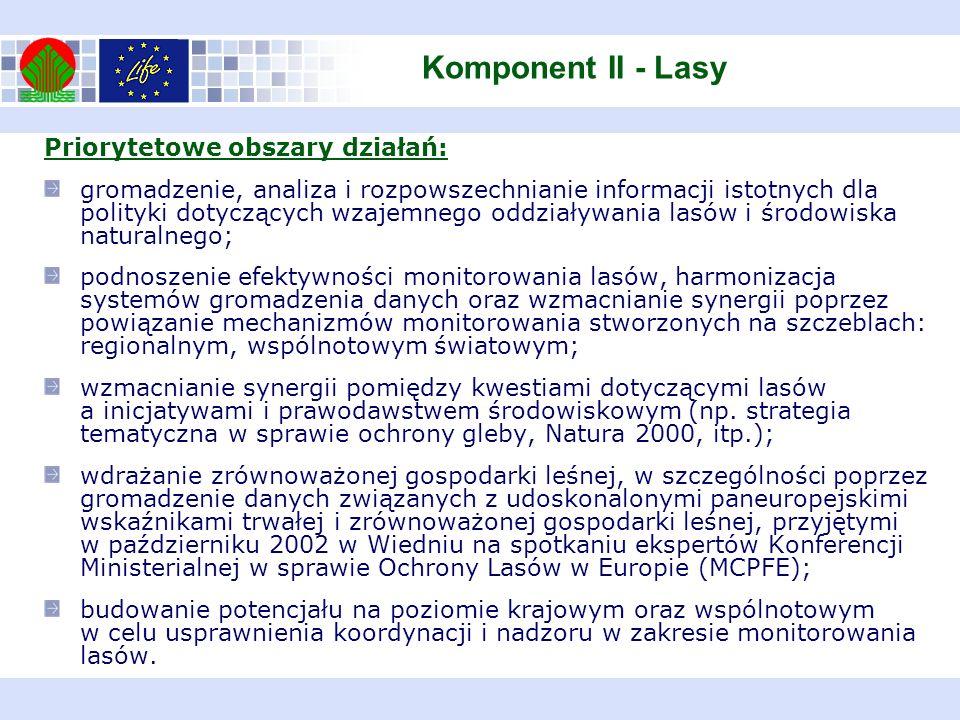 Priorytetowe obszary działań: gromadzenie, analiza i rozpowszechnianie informacji istotnych dla polityki dotyczących wzajemnego oddziaływania lasów i