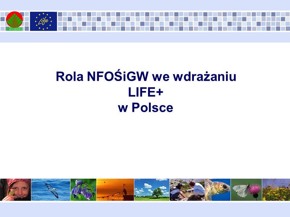Rola NFOŚiGW we wdrażaniu LIFE+ w Polsce