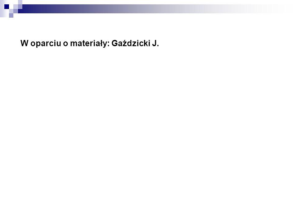 W oparciu o materiały: Gaździcki J.