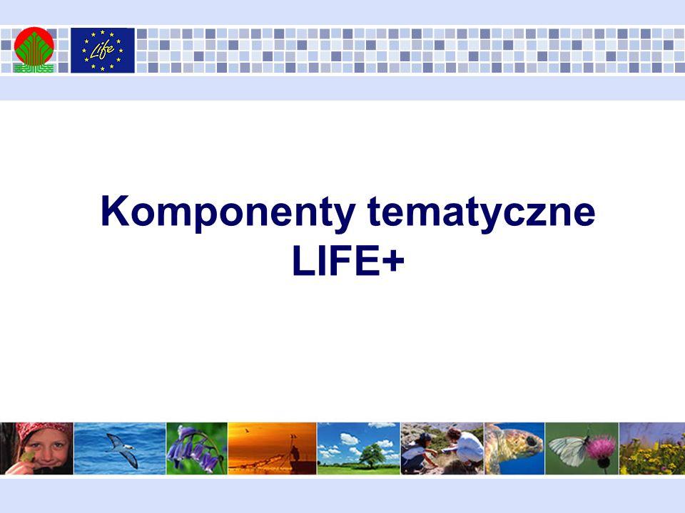 Komponenty tematyczne LIFE+