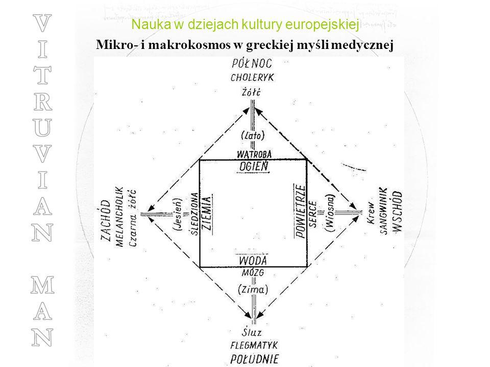 Nauka w dziejach kultury europejskiej Mikro- i makrokosmos w greckiej myśli medycznej