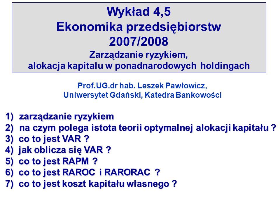 4.Jak oblicza się VAR .