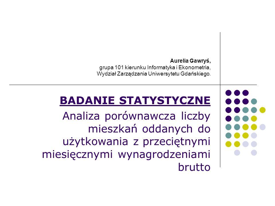 Aurelia Gawryś, grupa 101 kierunku Informatyka i Ekonometria, Wydział Zarządzania Uniwersytetu Gdańskiego. BADANIE STATYSTYCZNE Analiza porównawcza li