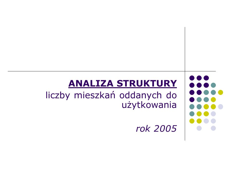 ANALIZA STRUKTURY liczby mieszkań oddanych do użytkowania rok 2005
