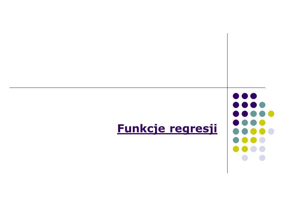 Funkcje regresji