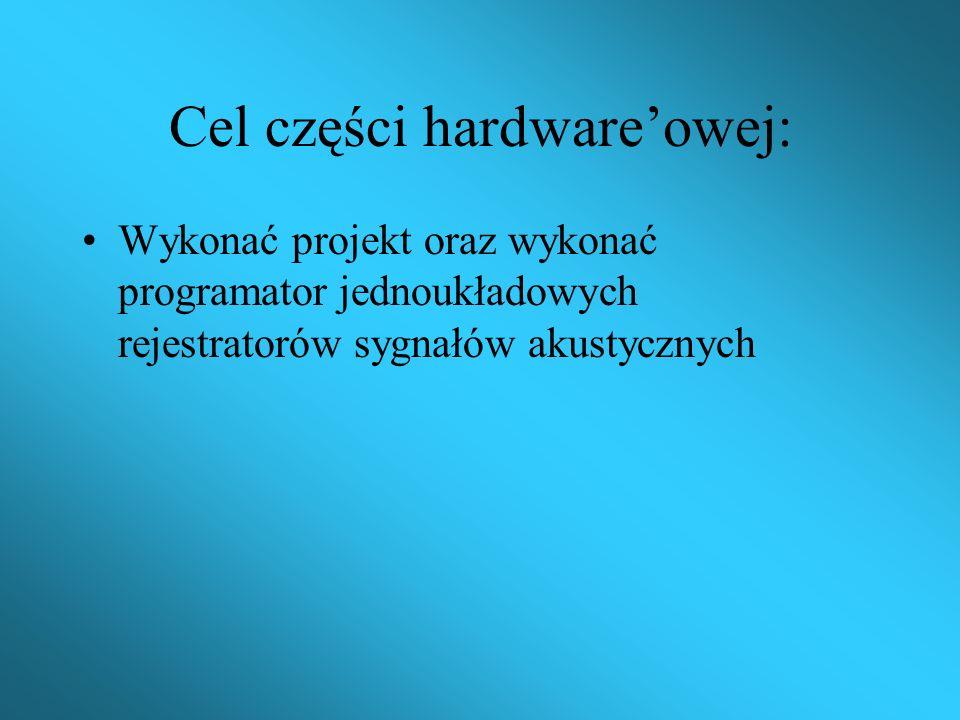 Praca składa się z dwóch części: 1. Hardware 2. Software