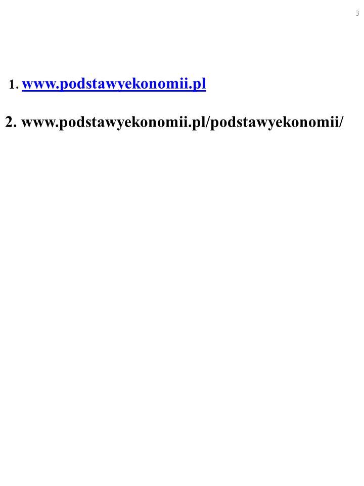 1. www.podstawyekonomii.pl 2. www.podstawyekonomii.pl/podstawyekonomii/ www.podstawyekonomii.pl 3