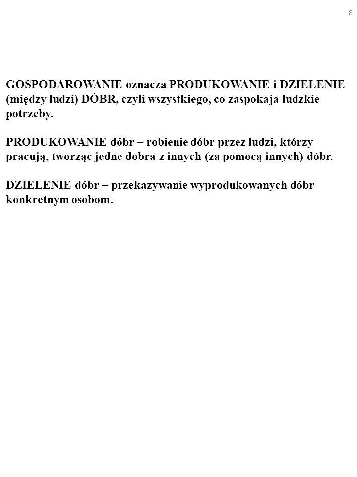 39 Które z tych wypowiedzi są opiniami makroekonomisty, które zaś przypisałbyś mikroekonomiście: a) Tempo inflacji w Polsce w styczniu 1990 r.