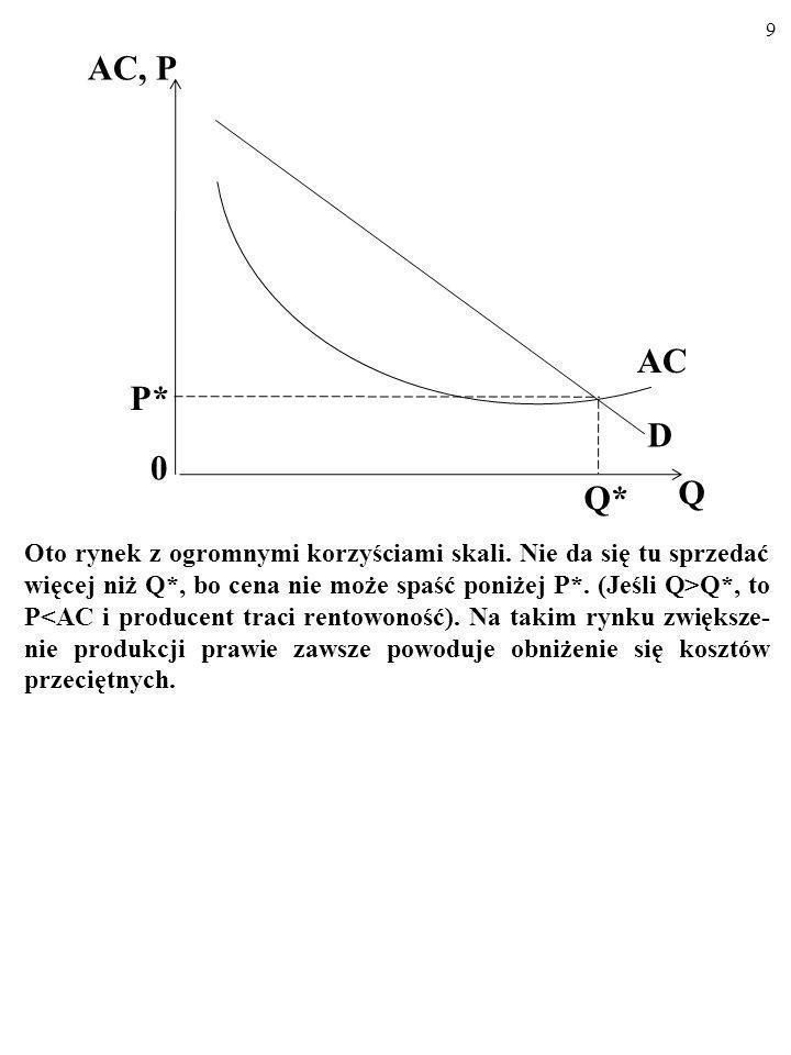 Oto przyczyny zróżnicowania rynków: 1. Korzyści skali. 8