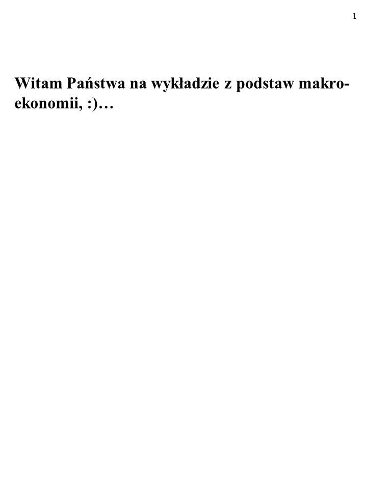 61 ZADANIE: a) Wykonaj rysunek z krótkookresową krzywą Phillipsa. U π 0 E0E0 PC 1