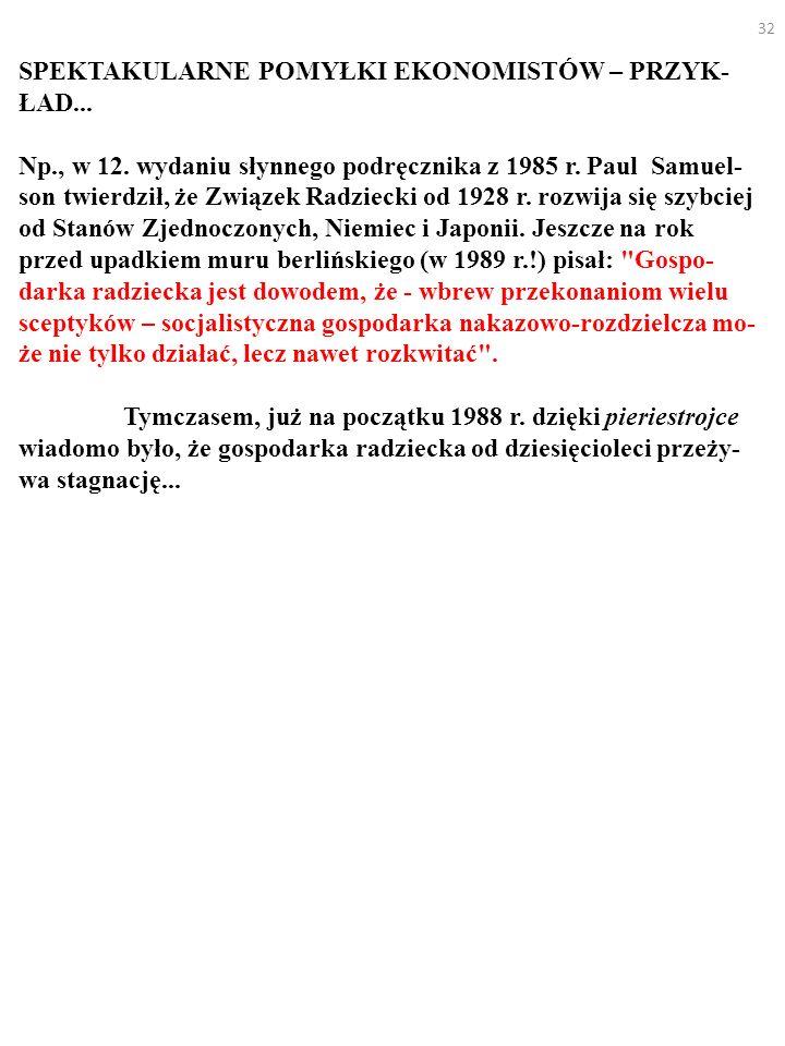 32 SPEKTAKULARNE POMYŁKI EKONOMISTÓW – PRZYK- ŁAD...