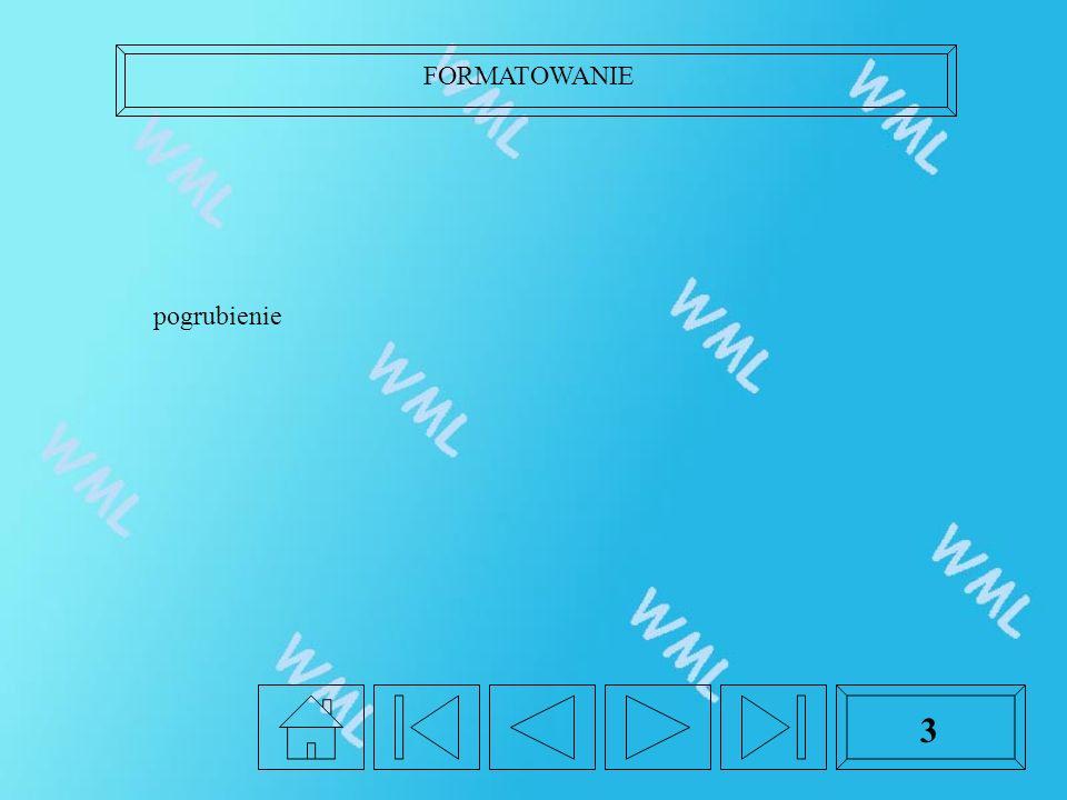 FORMATOWANIE 3 pogrubienie