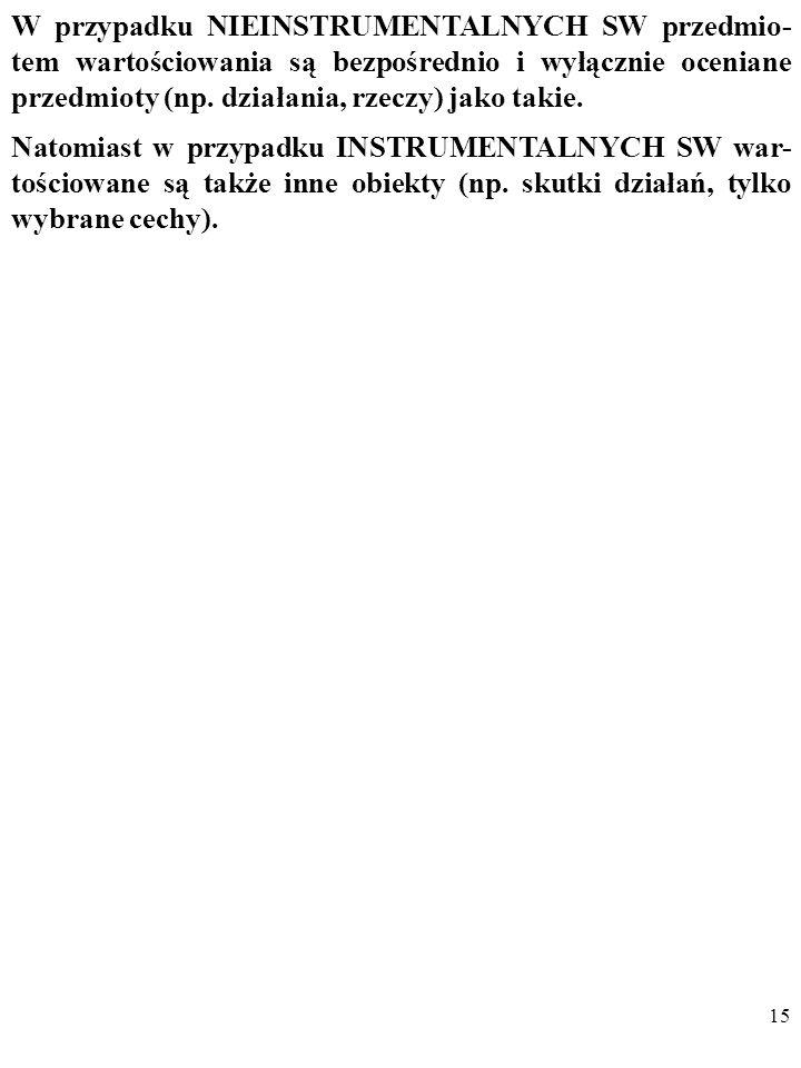 14 SW dzieli się także na NIEINSTRUMENTALNE i INSTRU- MENTALNE.