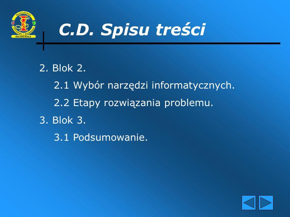 1.Blok 1. 1.1 Cel i zakres pracy. 1.2 Opis poszczególnych konfiguracji.