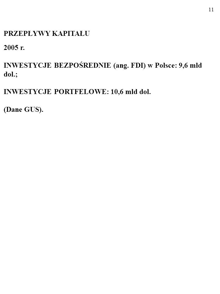 10 Polski handel zagraniczny, 1990-2006 (ceny bieżące, w mln dol.