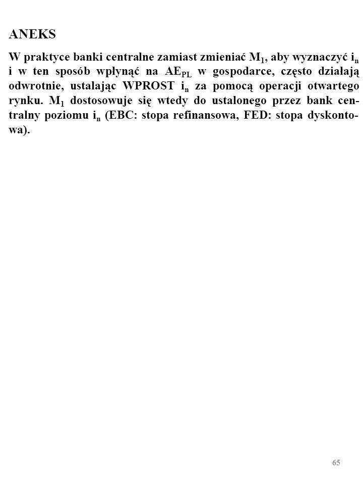 64 Zadanie e) Czy po zakończeniu kreacji pieniądza stosunek gotówki w ban- kach (R) do depozytów (D) odpowiada minimalnej stopie rezerw.