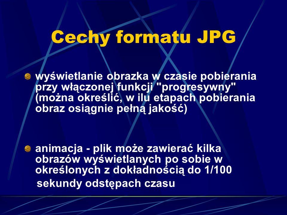 Cechy formatu JPG wyświetlanie obrazka w czasie pobierania przy włączonej funkcji