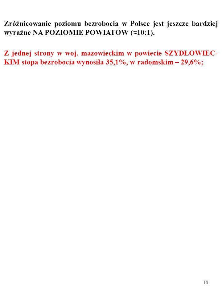 Struktura geograficzna polskiego bezrobocia, grudzień 2010 r. 17