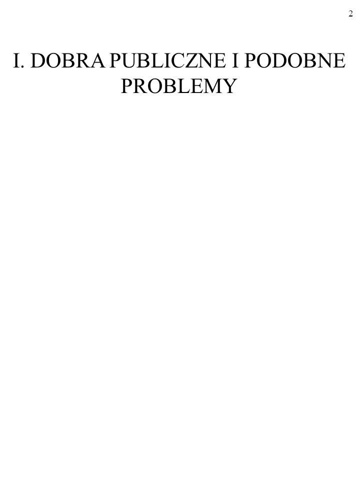 2 I. DOBRA PUBLICZNE I PODOBNE PROBLEMY