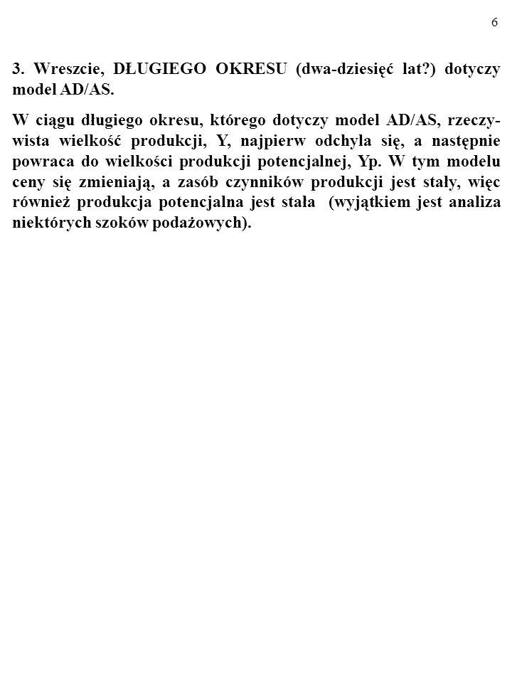 6 3.Wreszcie, DŁUGIEGO OKRESU (dwa-dziesięć lat?) dotyczy model AD/AS.