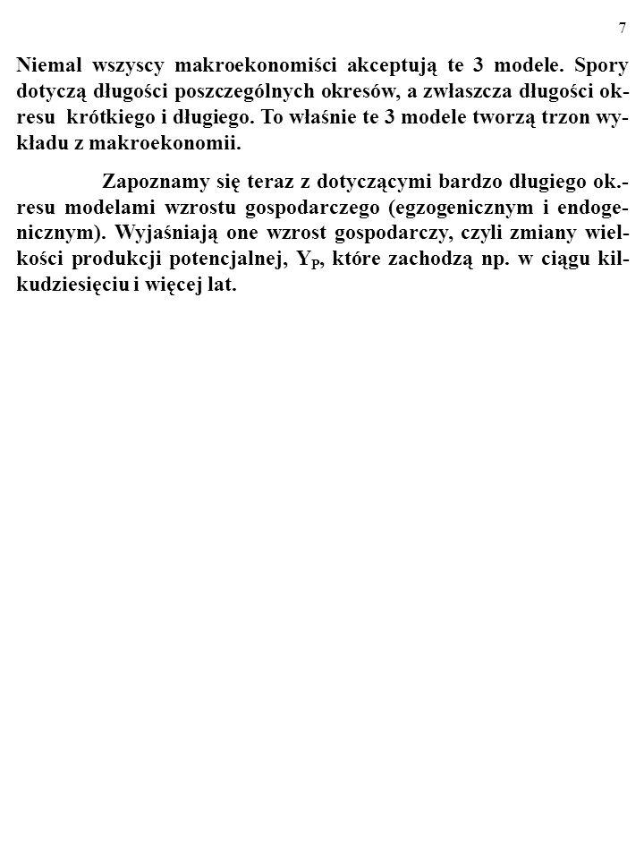 6 3. Wreszcie, DŁUGIEGO OKRESU (dwa-dziesięć lat?) dotyczy model AD/AS. W ciągu długiego okresu, którego dotyczy model AD/AS, rzeczy- wista wielkość p