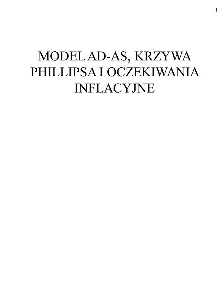 31 Długookresowe zmiany zagregowanego popytu i podaży (USA) MODEL AD/AS W DZIAŁANIU; cd...