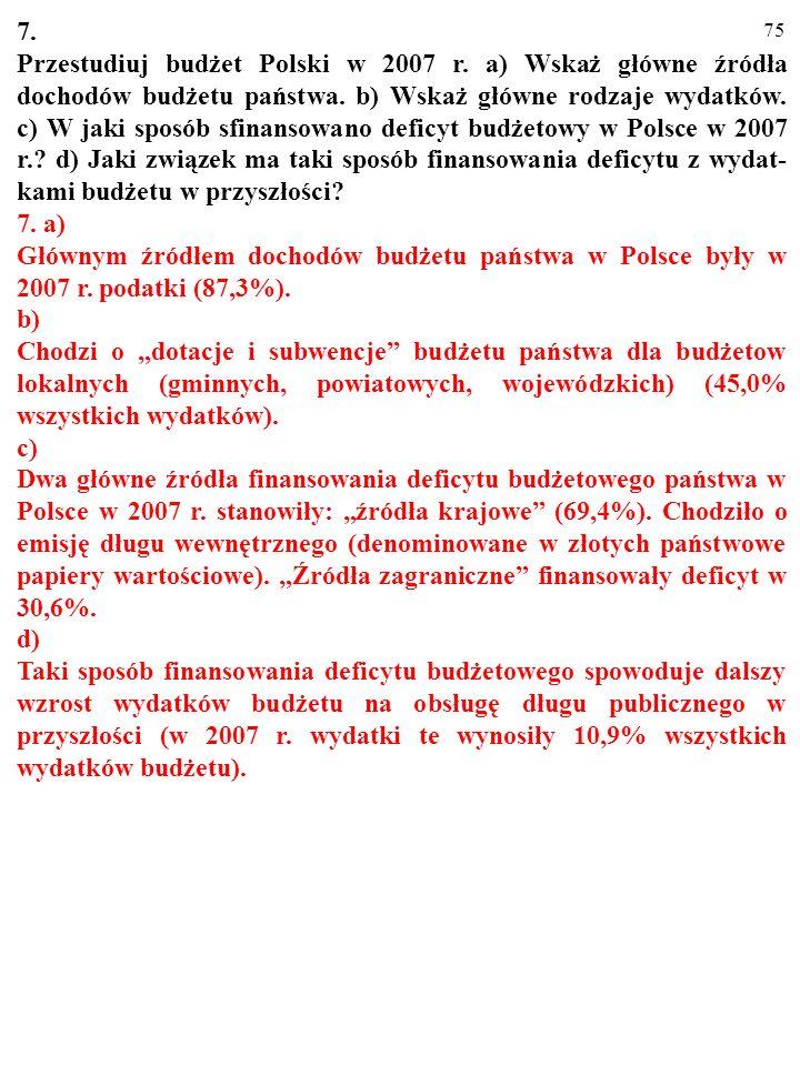 74 6. a) Równaniem opisz równość przypływów i odpływów w gospodarce otwartej. Przekształć to równanie tak, aby ujawnione zostały: b) Prywatne i zagran