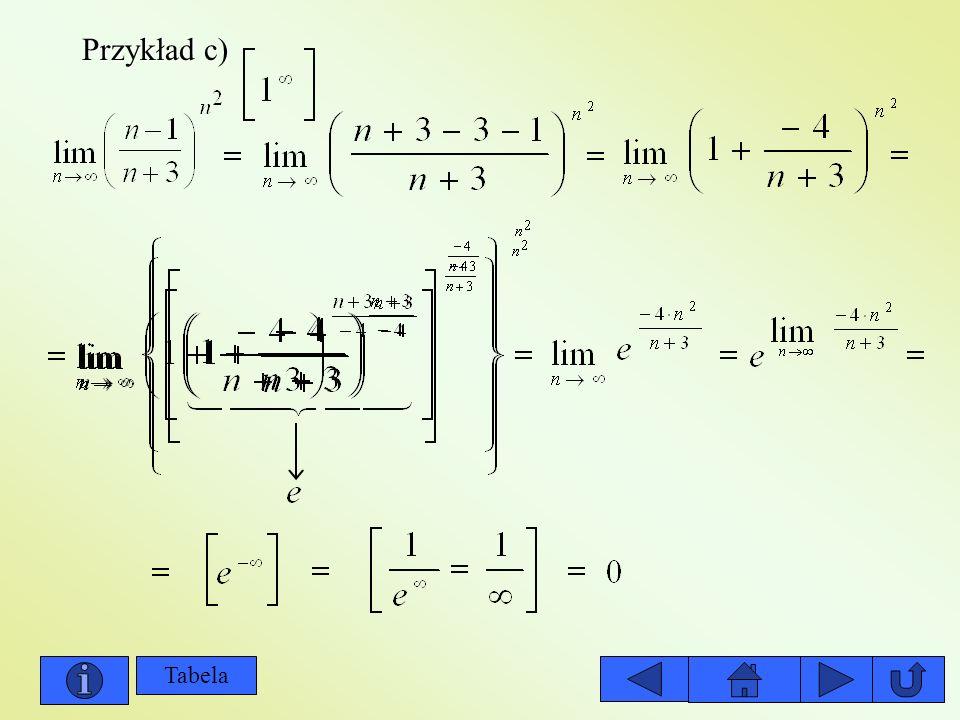 Przykład c) Tabela