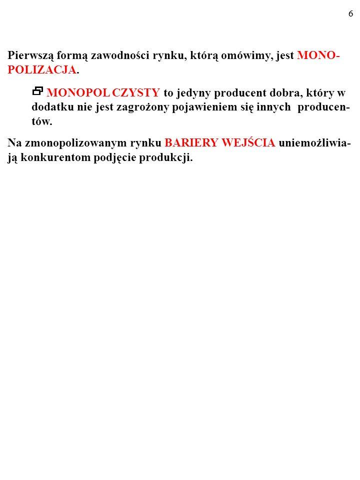 46 METODY DZIAŁANIA REGULATORA 1.Cena oparta na kosztach krańcowych (ang.