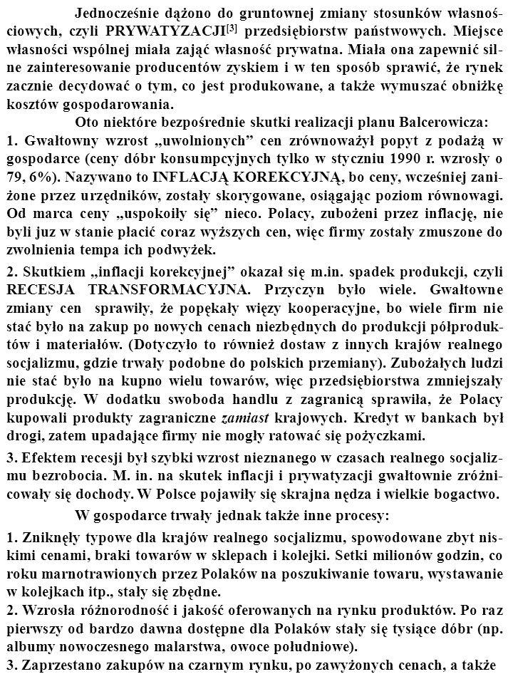 PLAN BALCEROWICZA [1] był planem reformy gospodarki polskiej z je- sieni 1989 r.