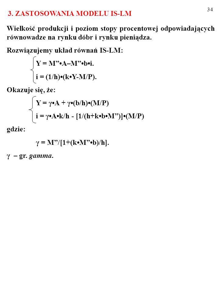 33 ZADANIE Dla punktów A, B, C, D odpowiedz na py- tania (wypełnij polecenie): a) Czy na ry- sunku obok w gospodarce panuje rów- nowaga? b) Jeśli nie,