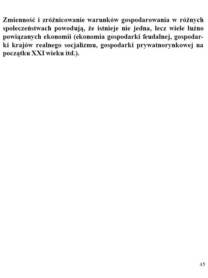 44 DYGRESJA Przykłady innych niż prawo malejących przychodów ekonomicz- nych praw uniwersalnych proponował m.in.