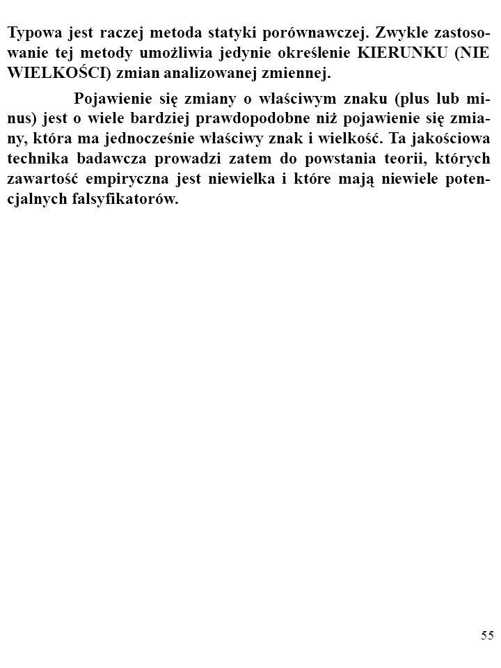 54 Sprawia to, że w ekonomii rzadko pojawiają się PRECZY- ZYJNE twierdzenia, w rodzaju pierwiastkowej formuły Baumola-Tobina, wyjaśniającej transakcyj