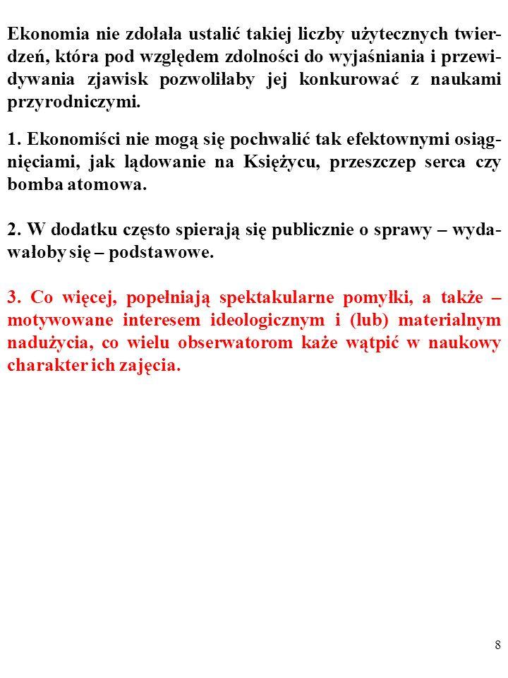 68 DYGRESJA Oto naturalne rozwinięcie krytyki Lucasa,.