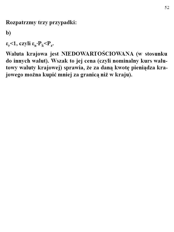 52 Rozpatrzmy trzy przypadki: b) ε r <1, czyli ε n P k <P z.