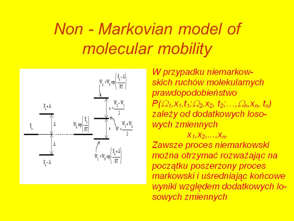 Non - Markovian model of molecular mobility