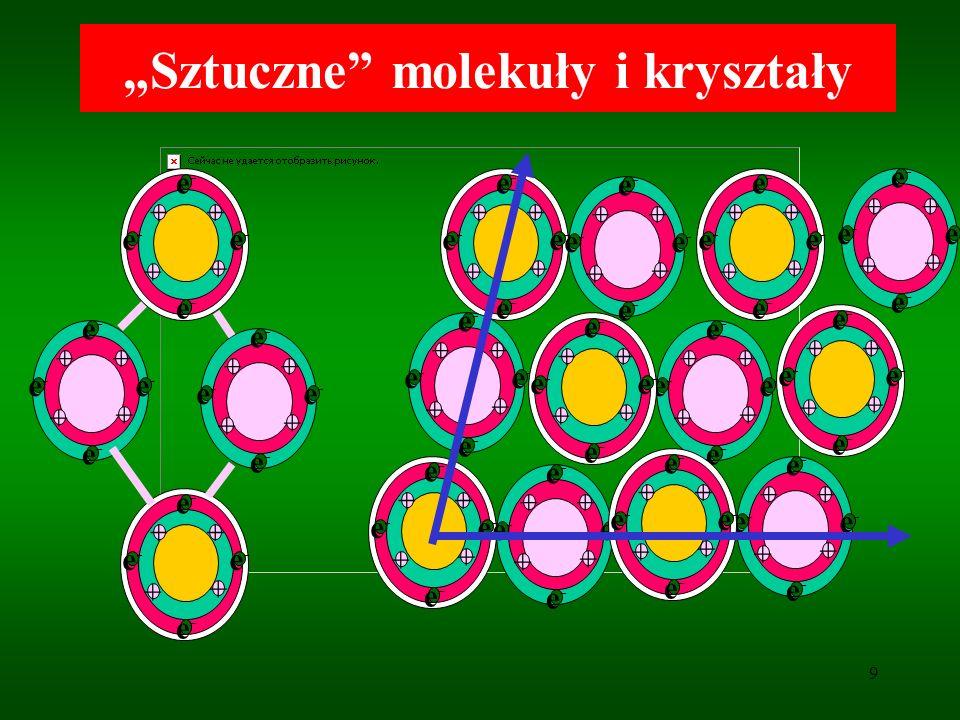 20 Nanorurki węglowe Najwytrzymalsze i najsztywniejsze ze znanych materiałów.