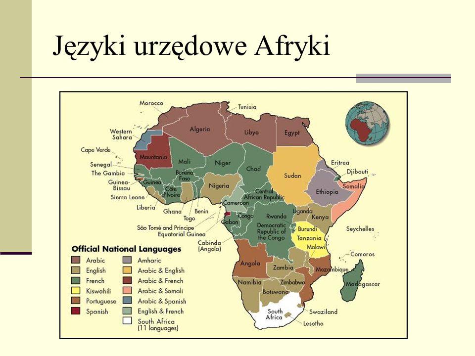 Języki urzędowe Afryki