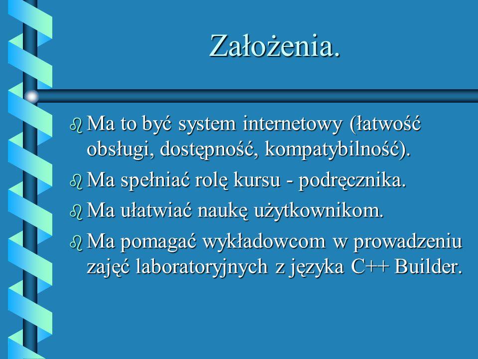 Przykłady takich systemów. b System studiowania na odległość uruchomiony przez Politechnikę Warszawską. b Wiele różnych kursów np. HTMLa, Javy, bądź d