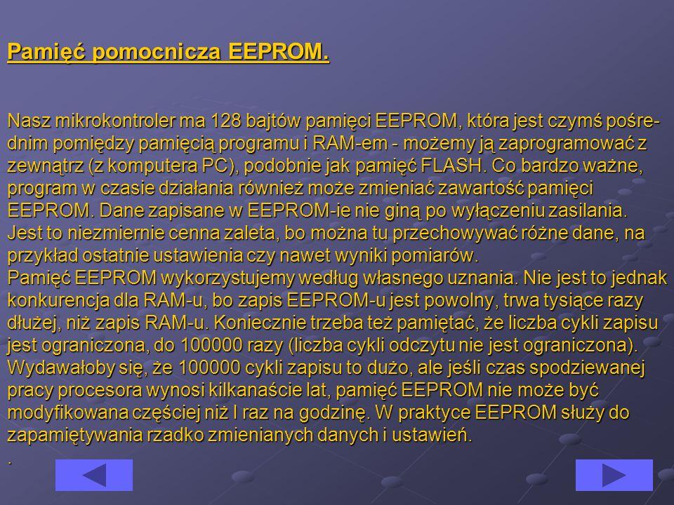 Pamięć pomocnicza EEPROM.